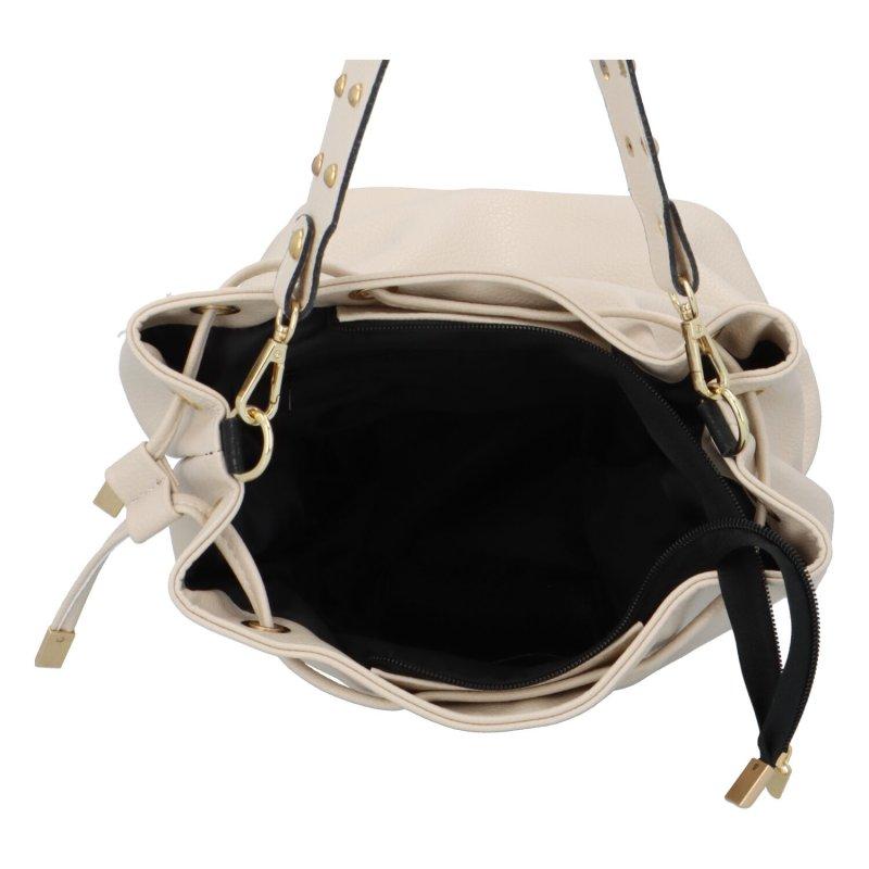 Dámská koženková kabelka Guinea, béžová