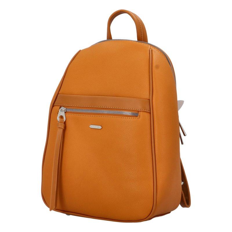 Stylový koženkový batůžek Derek, žlutý