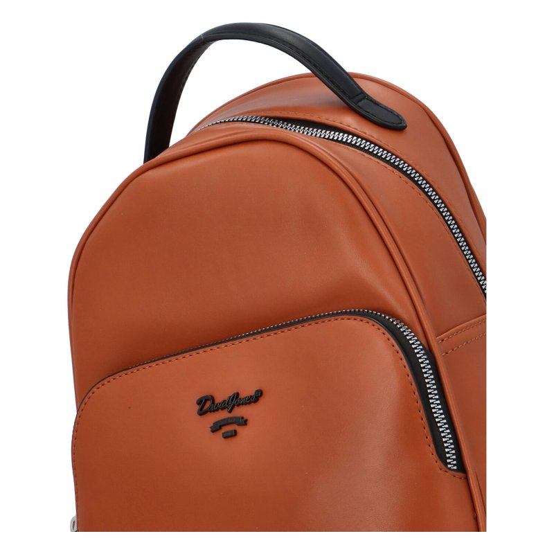 Nadčasový koženkový batůžek Edgar, hnědý