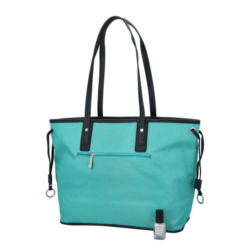 Dámská koženková kabelka Cool Stripe, zelená