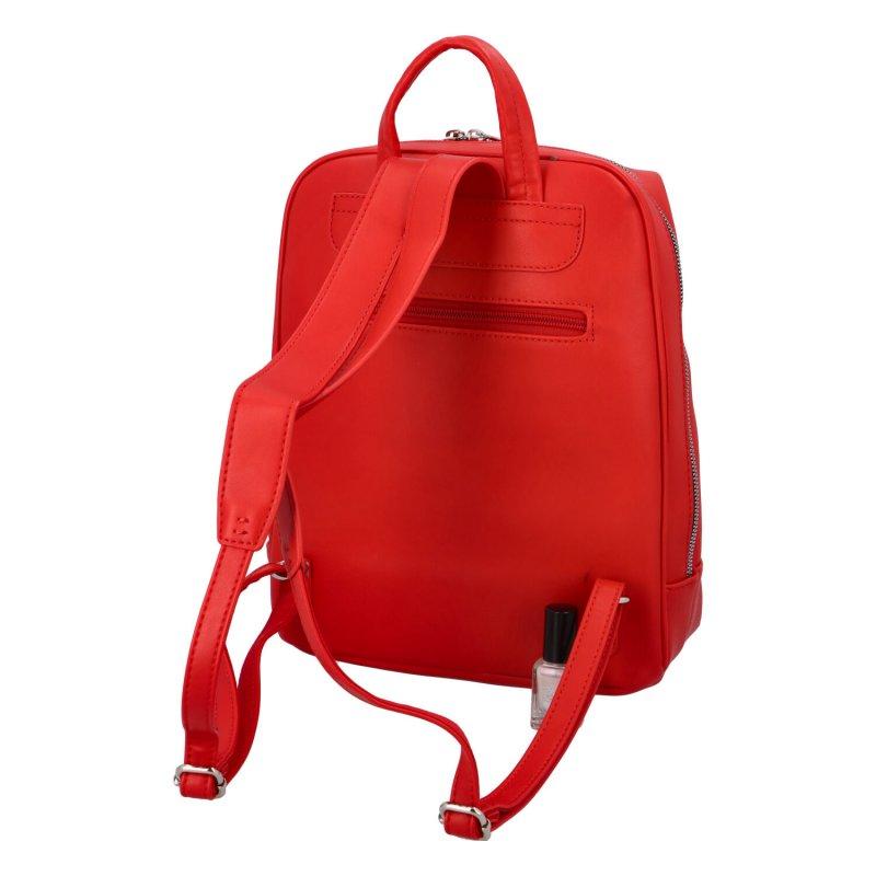 Dámský koženkový batůžek Ernst, červený