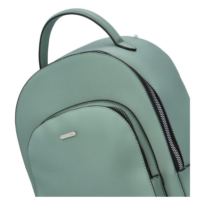 Jednoduchý městský batůžek Teodor, zelený