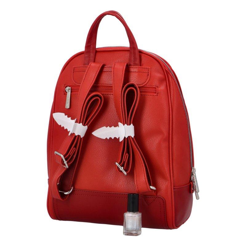 Městský koženkový batůžek Melanie, červený