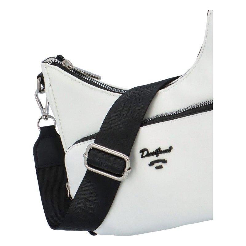 Módní koženková crossbody kabelka Antonie, bílá