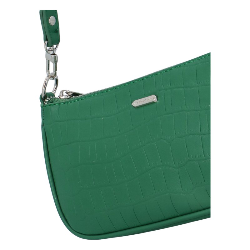 Malá koženková kabelka Lejla, zelená