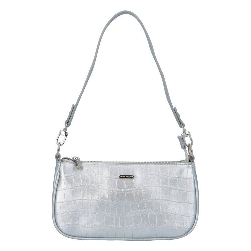 Malá koženková kabelka Lejla, stříbrná