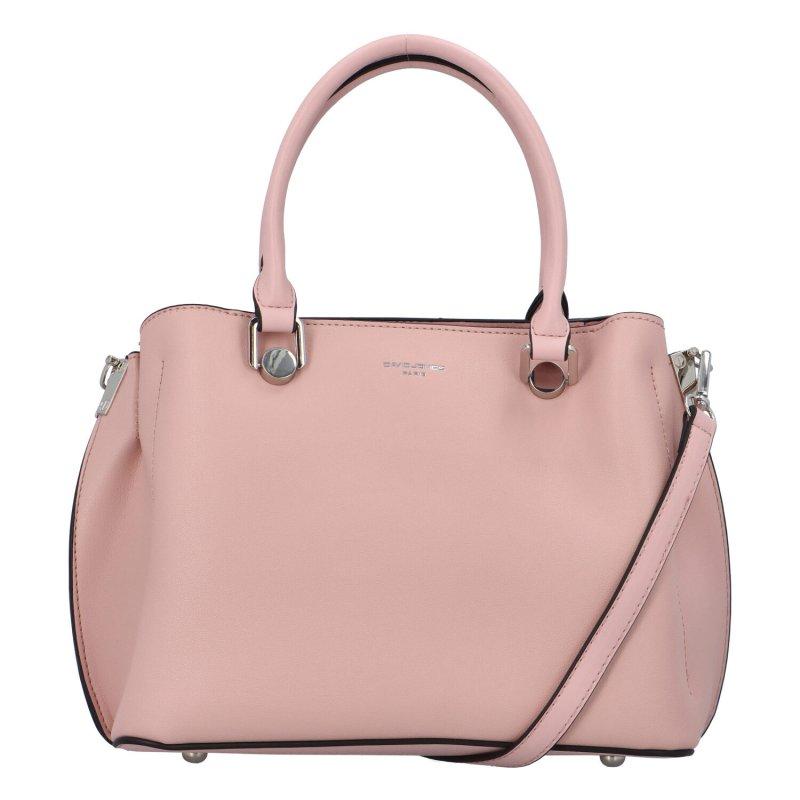 Pevná koženková kabelka přes rameno i do ruky Anne, růžová