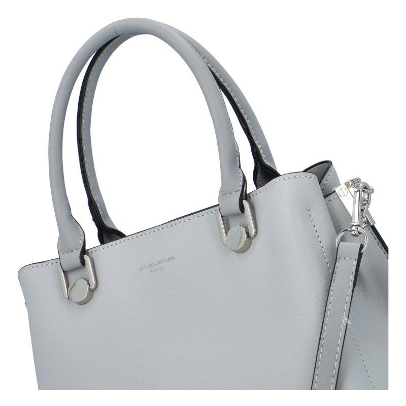 Pevná koženková kabelka přes rameno i do ruky Anne, šedá