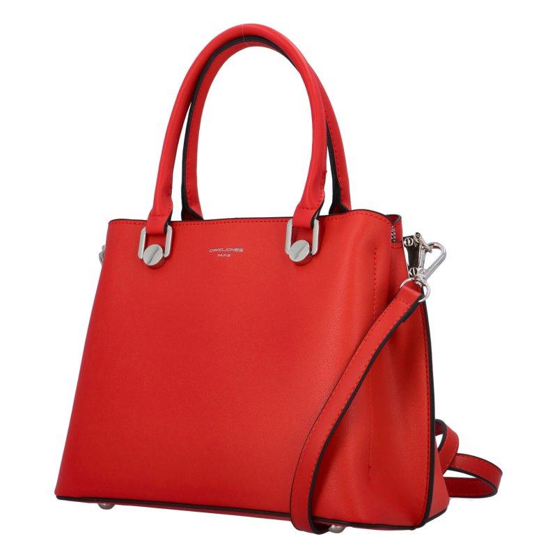 Pevná koženková kabelka přes rameno i do ruky Anne, červená