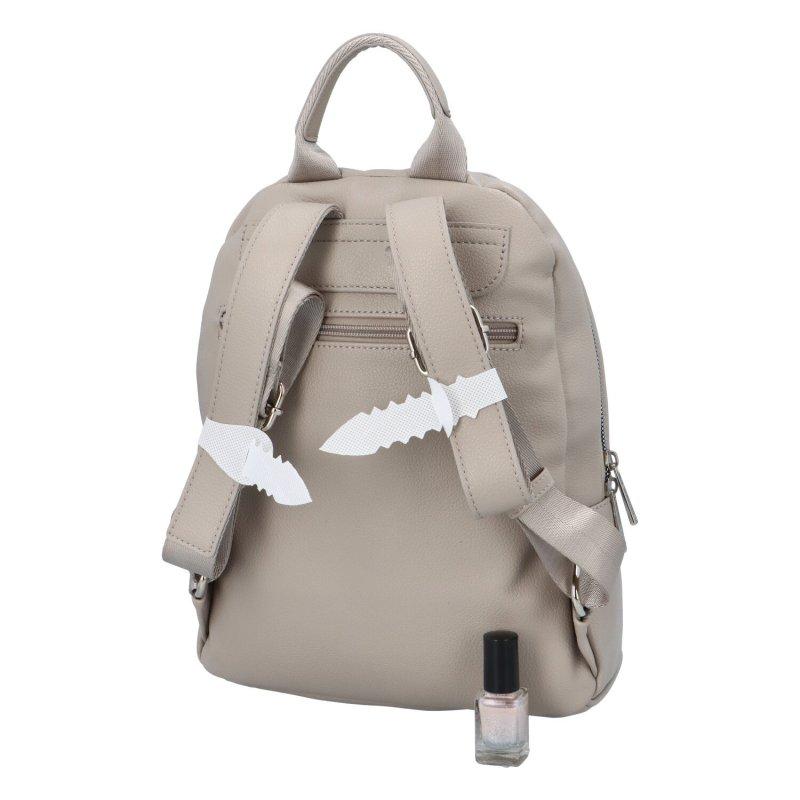 Koženkový batůžek Tom, šedý