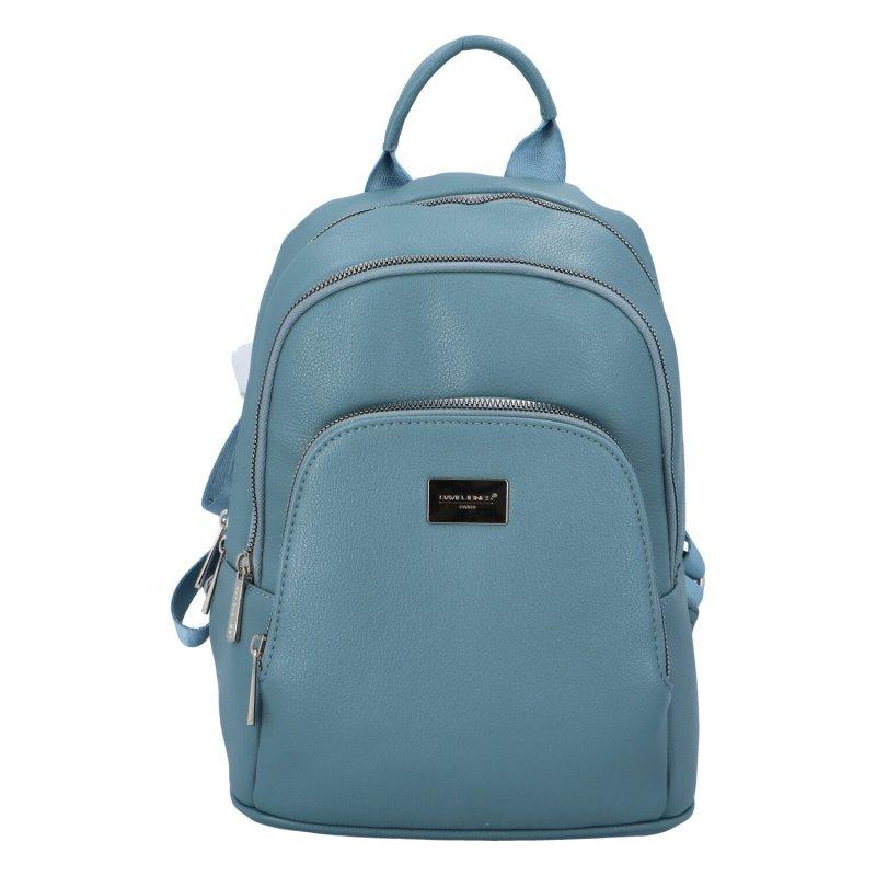 Koženkový batůžek Tom, světle modrý