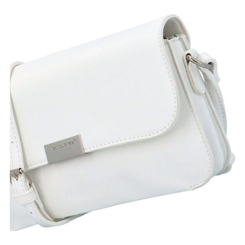 Krásná elegantní koženková kabelka Amélie, bílá
