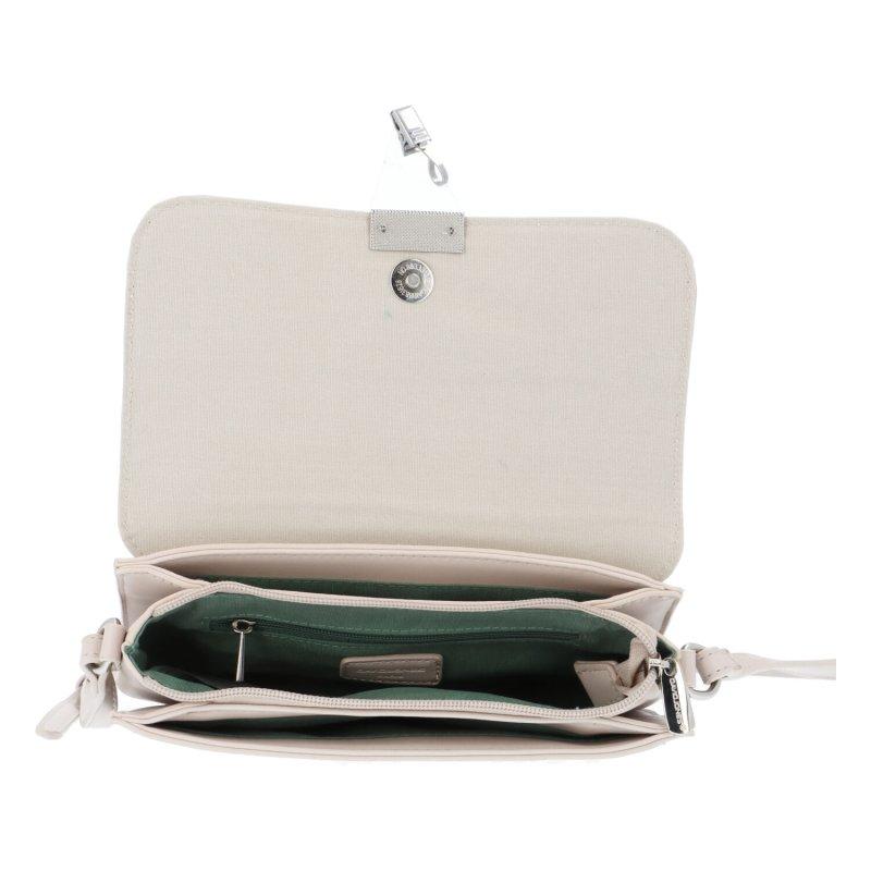 Krásná elegantní koženková kabelka Amélie, béžová