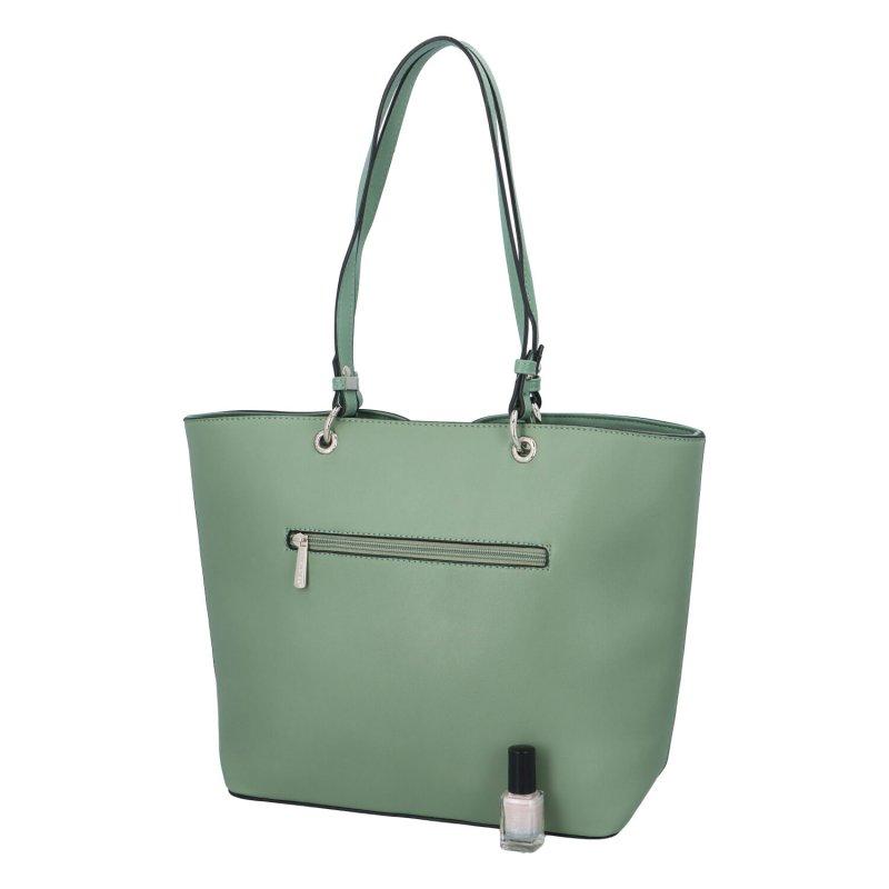 Stylová dámská koženková taška Grace, světle zelená