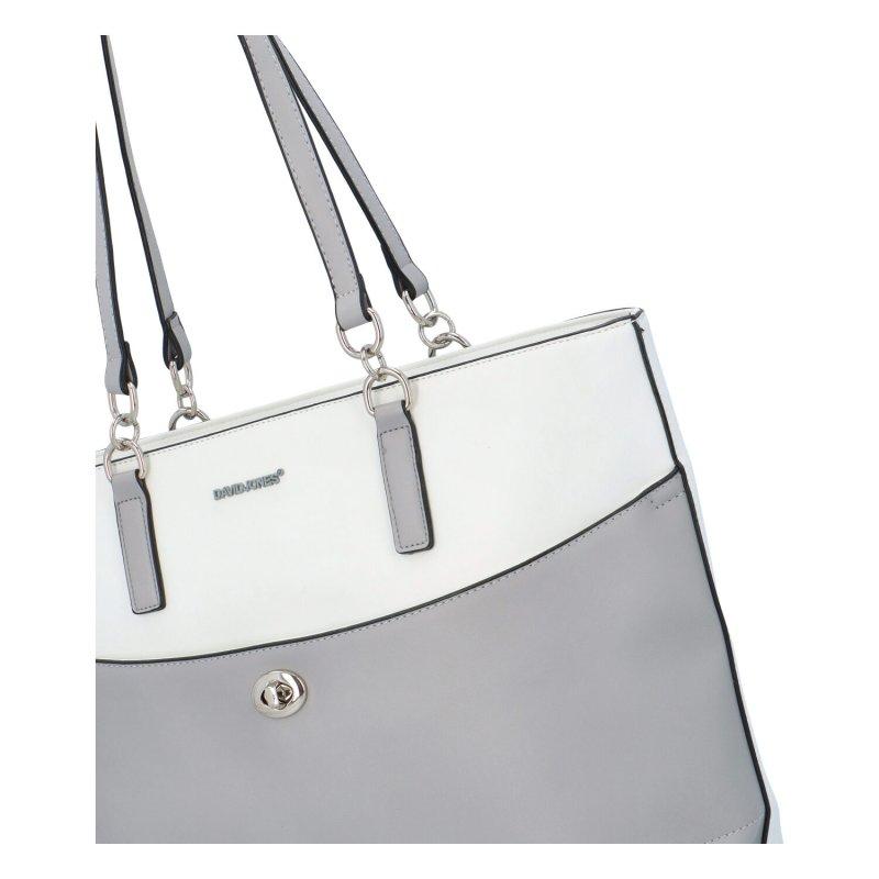 Dámská koženková kabelka Lucia, bílá/šedá