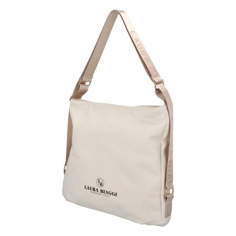 Moderní dámský koženkový kabelko-batoh Laura Stylish, béžová