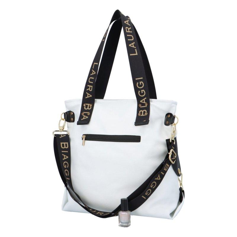 Trendová dámská kabelka L.B. New Star, bílá