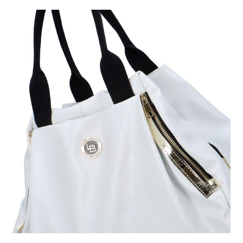 Trendová dámská kabelka Simona, bílá