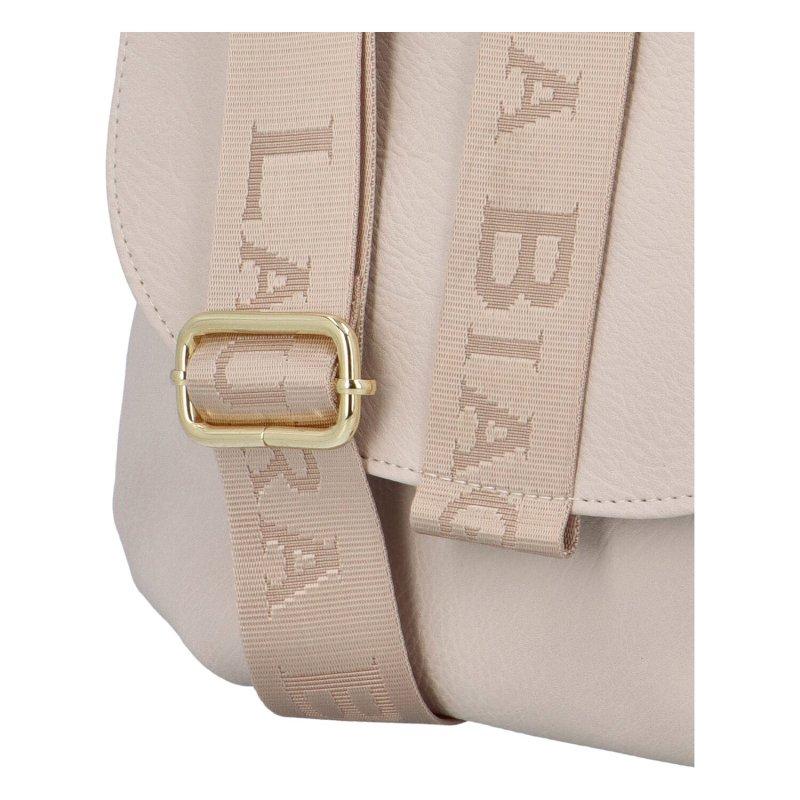 Dámská crossbody taška s klopou, Mirai L.B., béžová II.