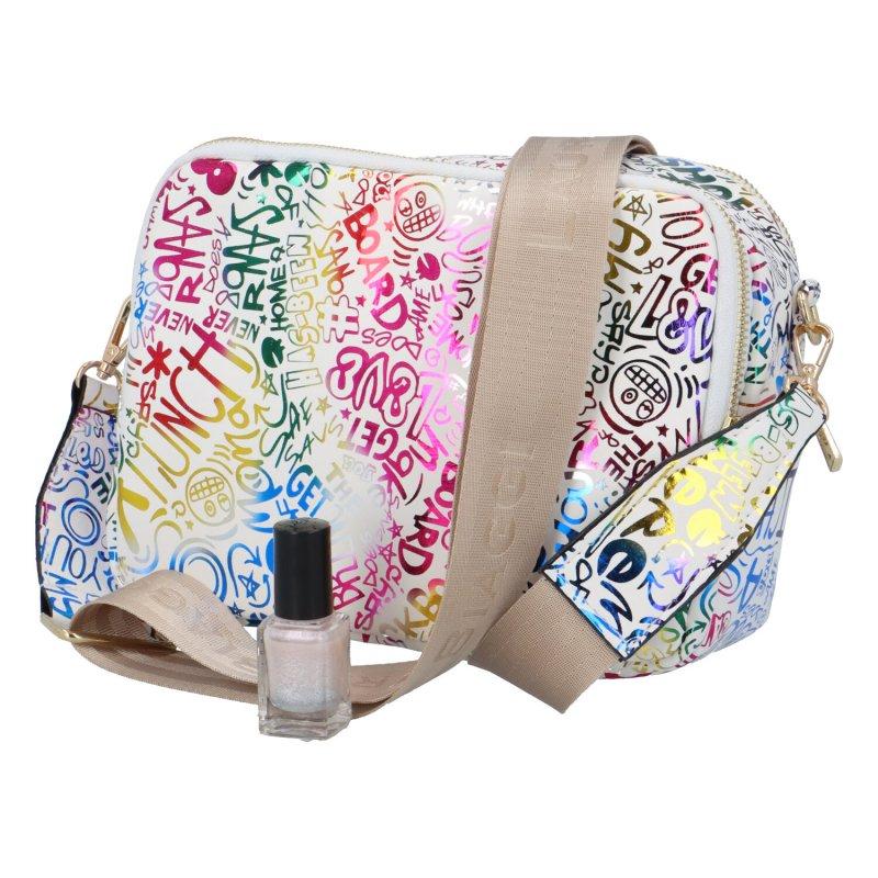 Stylová dámská crossbody taška Simi B., barevná