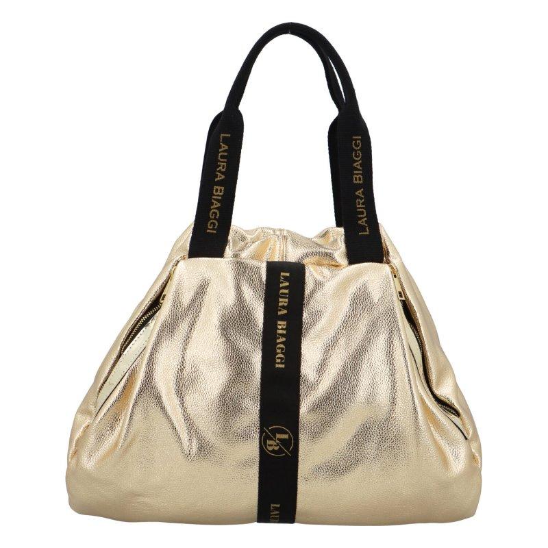 Trendy zajímavá kabelka LB Eugenia, zlatá
