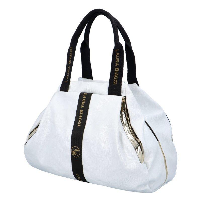 Trendy zajímavá kabelka LB Eugenia, bílá