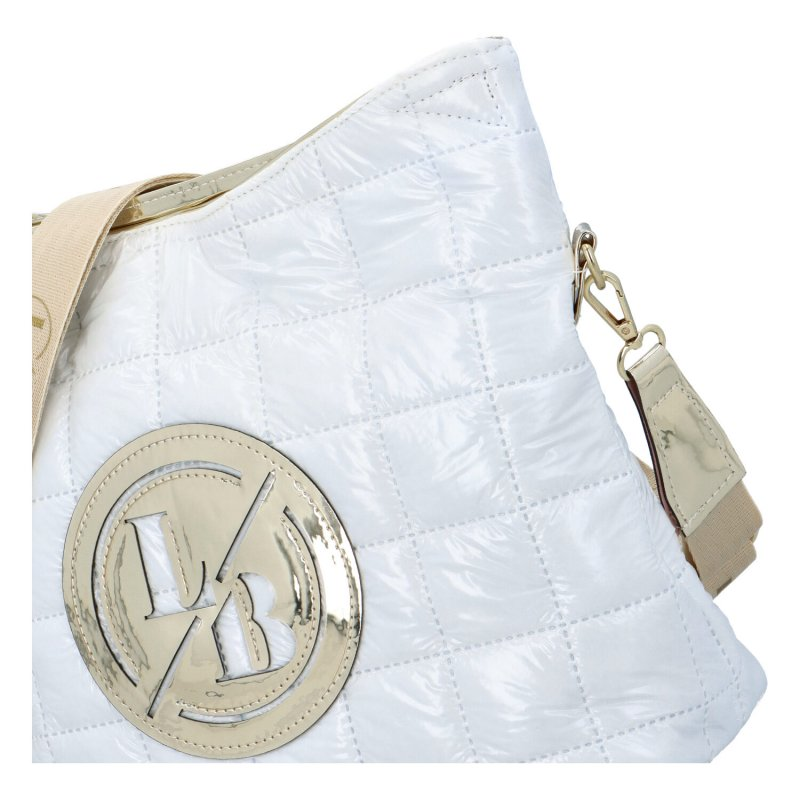 Dámská polstrovaná crossbody kabelka Violeta, bílá