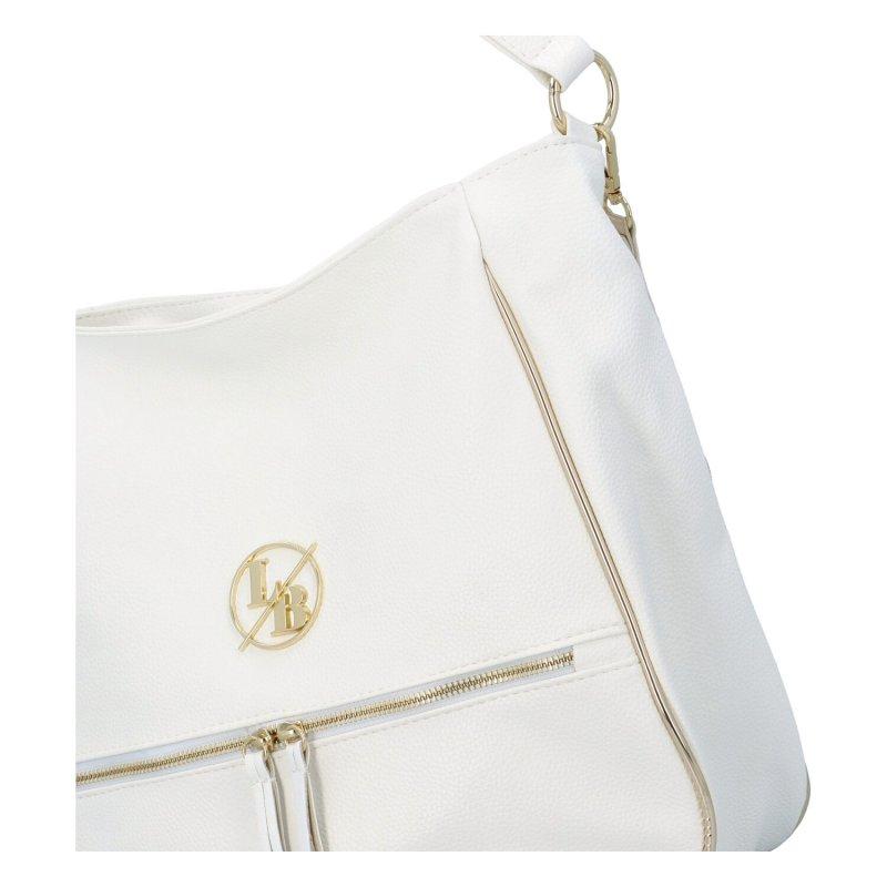 Dámská koženková kabelka Elizabeth, bílá