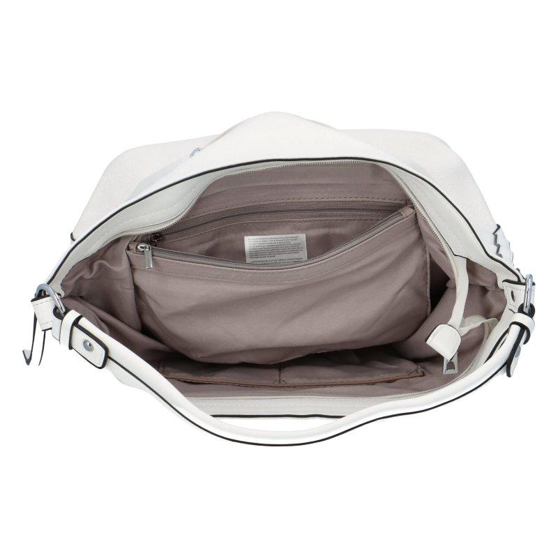 Stylová koženková kabelka Ady, bílá