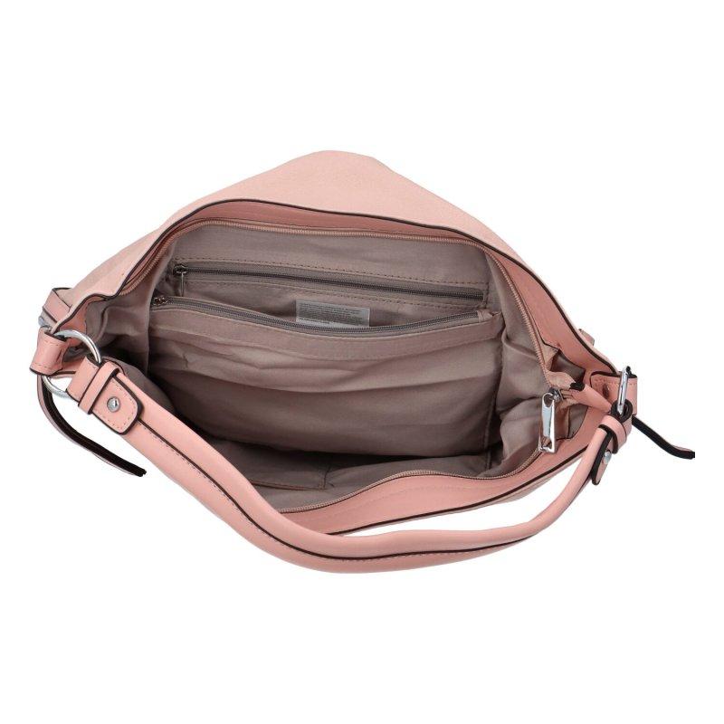 Stylová koženková kabelka Ady, růžová