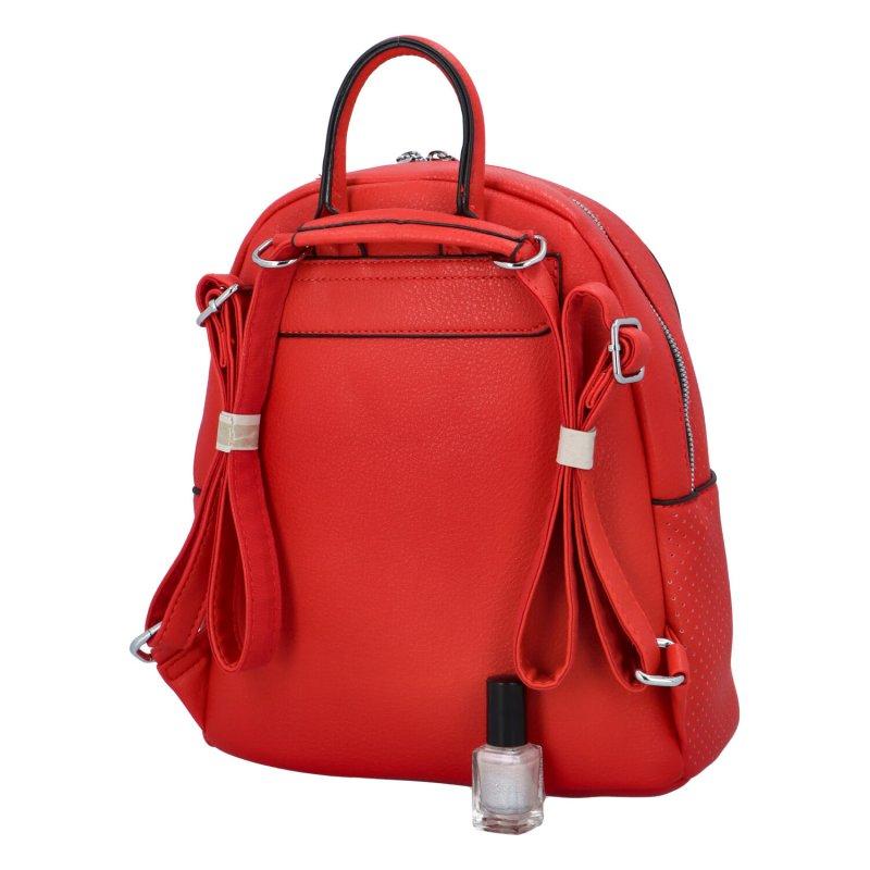 Dámský městský batůžek Nela, červený