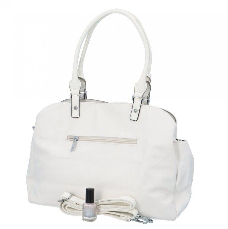 Stylová koženková kabelka Jasmín, bílá