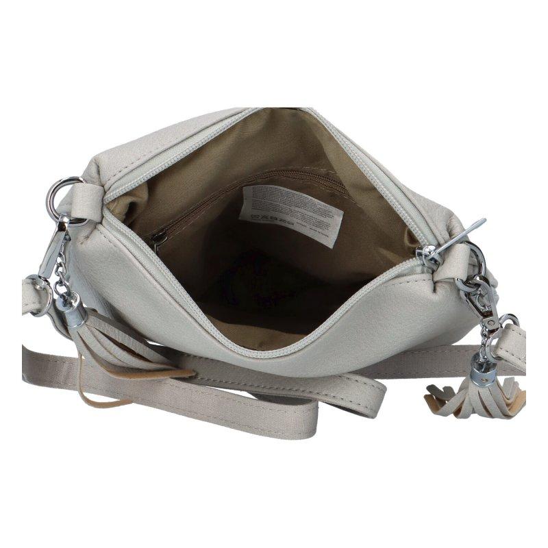 Koženková kabelka Nick, šedá