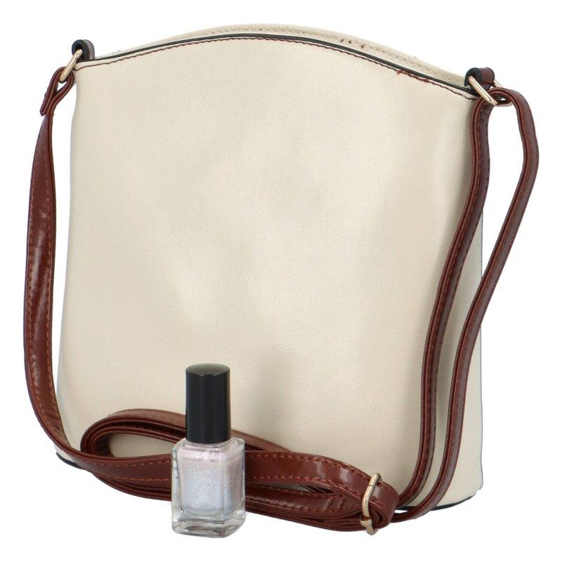 Stylová koženková kabelka Jeff, bílá