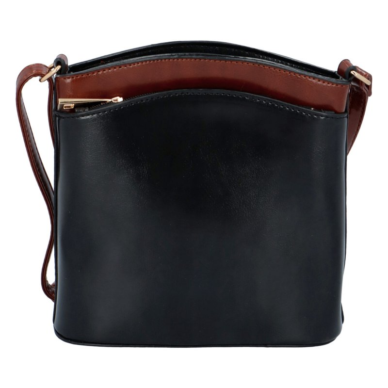 Stylová koženková kabelka Jeff, černá