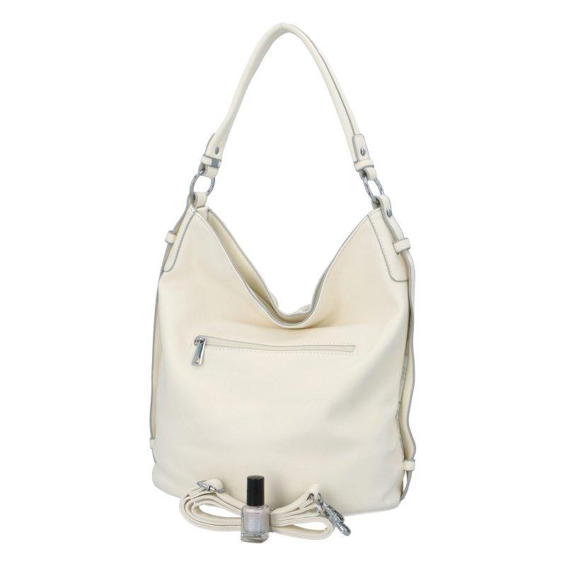 Krásná dámská kabelka s květinovým vzorem Daisy, bílá