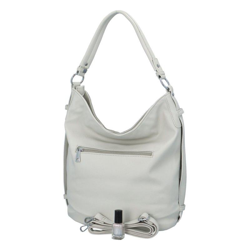 Krásná dámská kabelka s květinovým vzorem Daisy, šedá