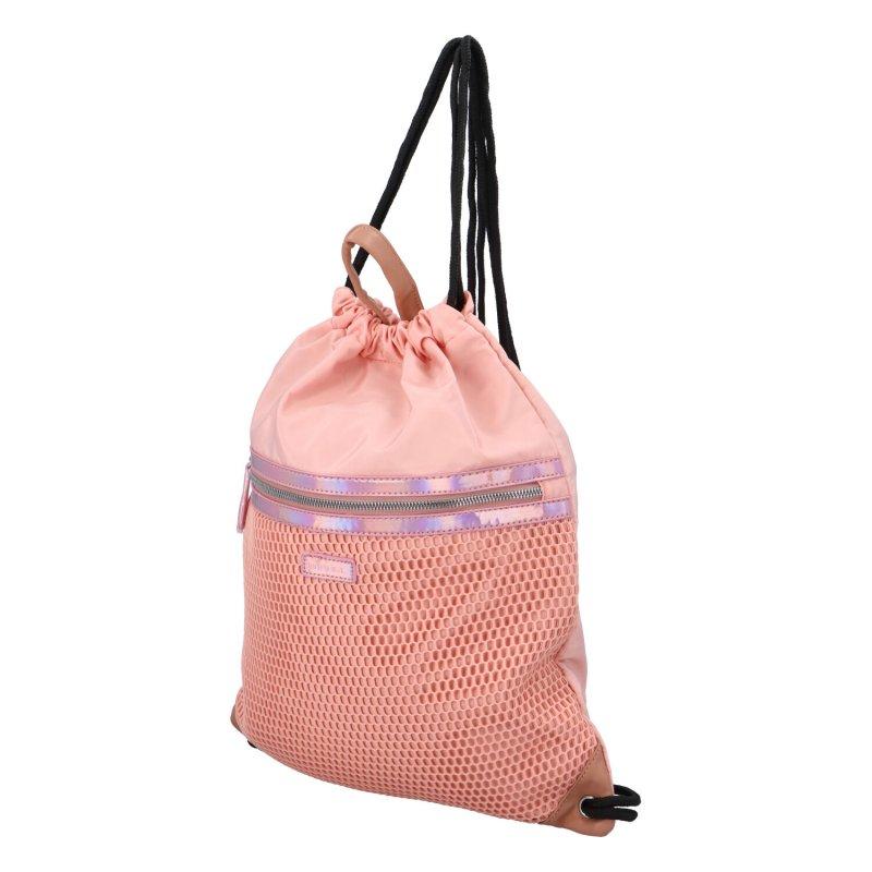 Stylový textilní vak na záda Finn, růžový