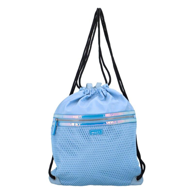 Stylový textilní vak na záda Finn, světle modrý