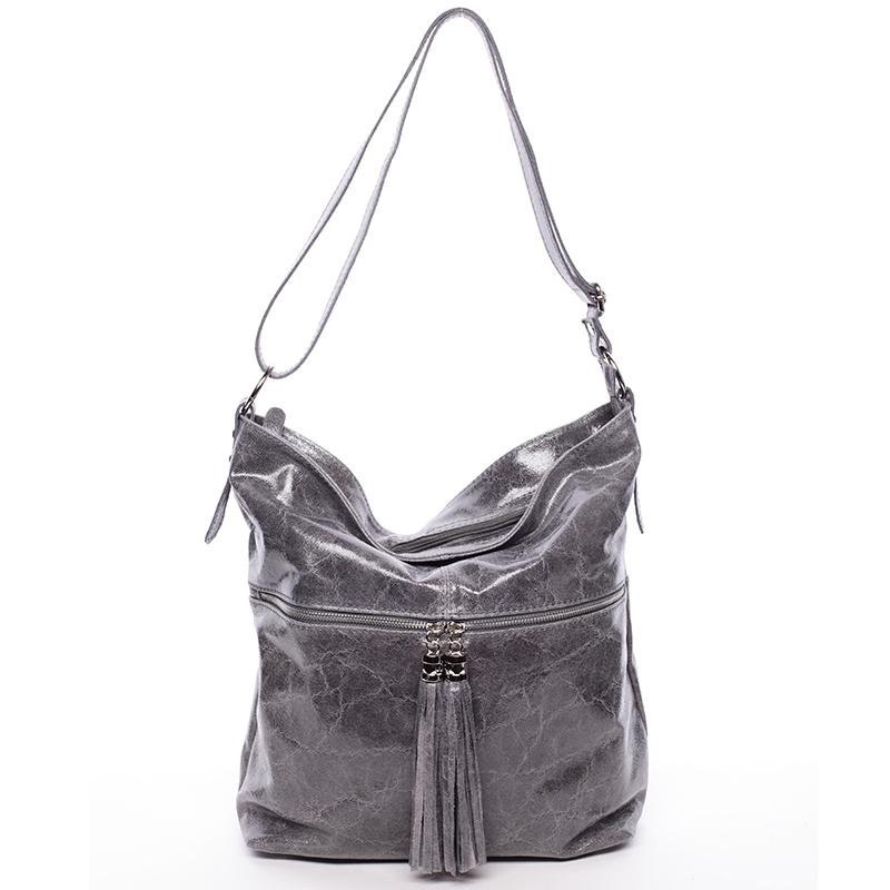 52b91ba375b3 Luxusní kožená kabelka přes rameno Delia