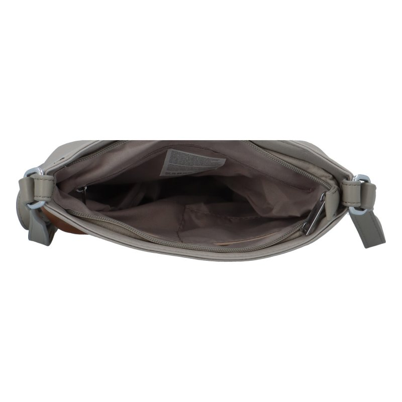 Barevná dámská koženková crossbody kabelka Tobi, šedá