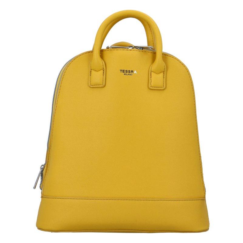 Elegantní dámský batůžek Junior, žlutý
