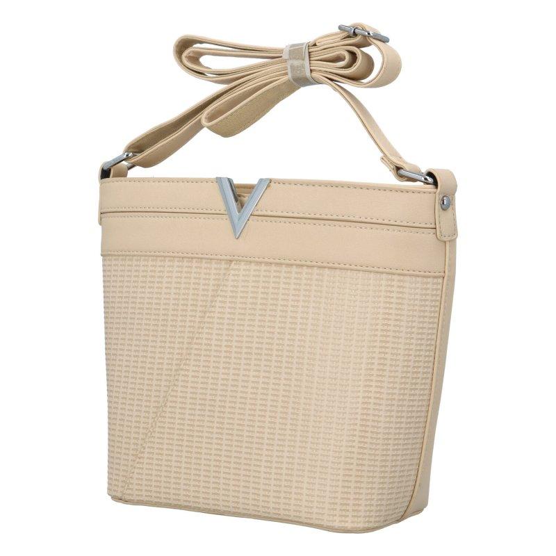 Dámská koženková kabelka Vendy, béžová