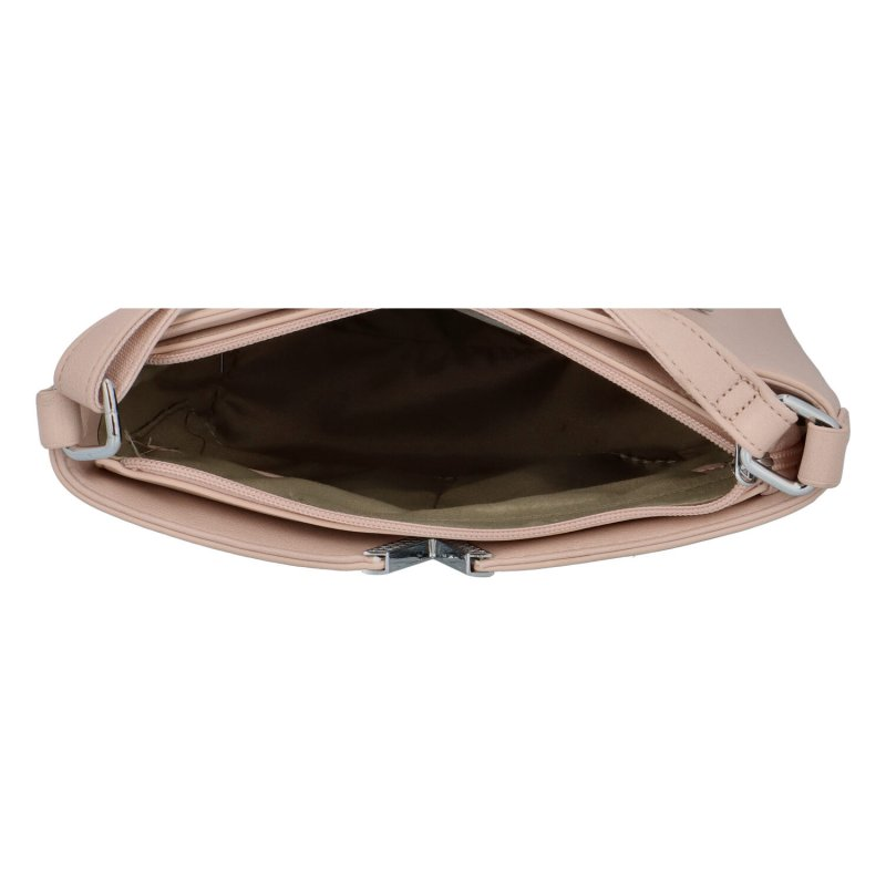 Dámská koženková kabelka Vendy, růžová