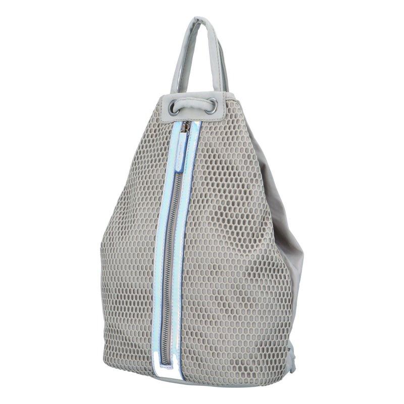 Extravagantní dámský batůžek Phil, šedý