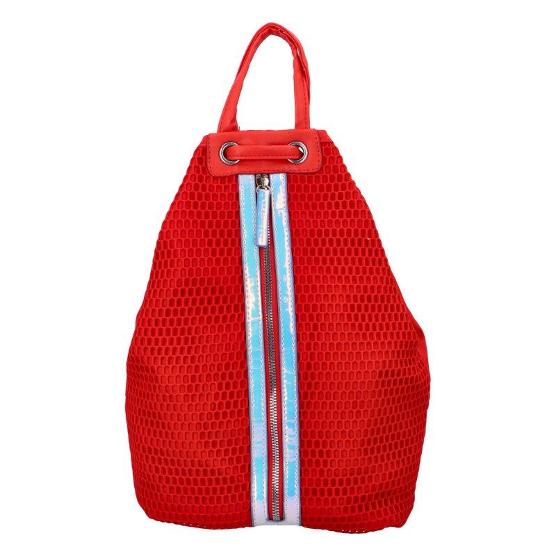 Extravagantní dámský batůžek Phil, červený