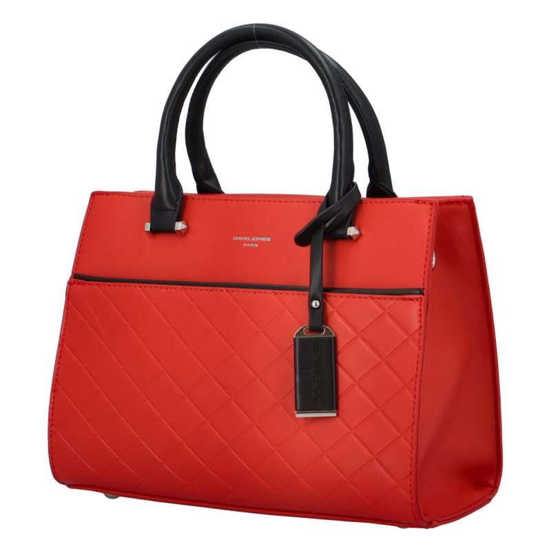Pevná kufříková kabelka Tommi, červená