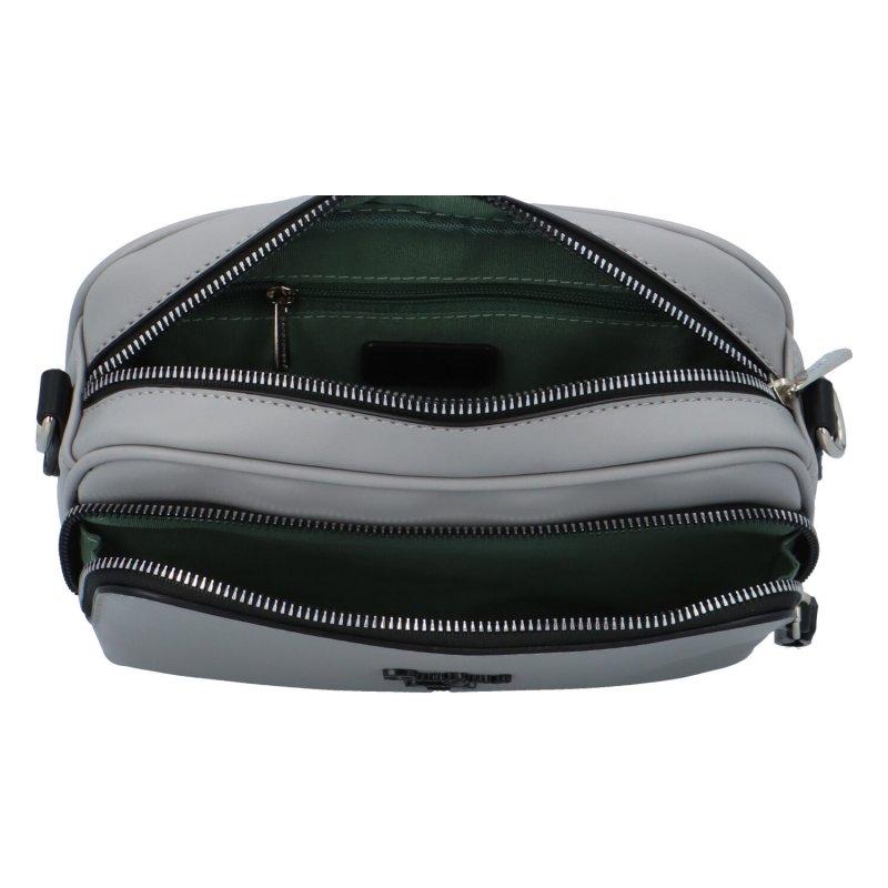 Malá koženková kabelka Isidora, šedá