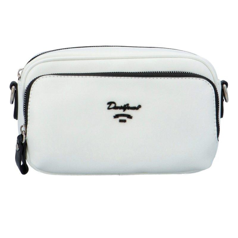 Malá koženková kabelka Isidora, bílá