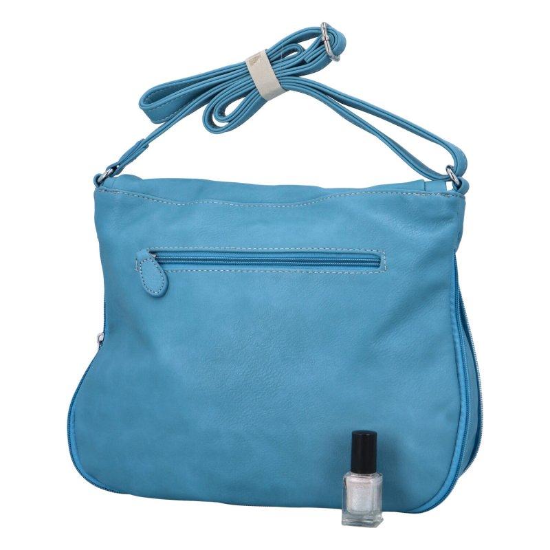 Krásná koženková crossbody kabelka Mike, modrá